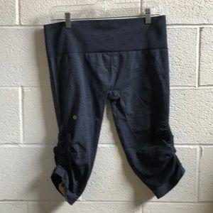 lululemon athletica Pants - Lululemon blue Ebb & flow crop sz 12 61242